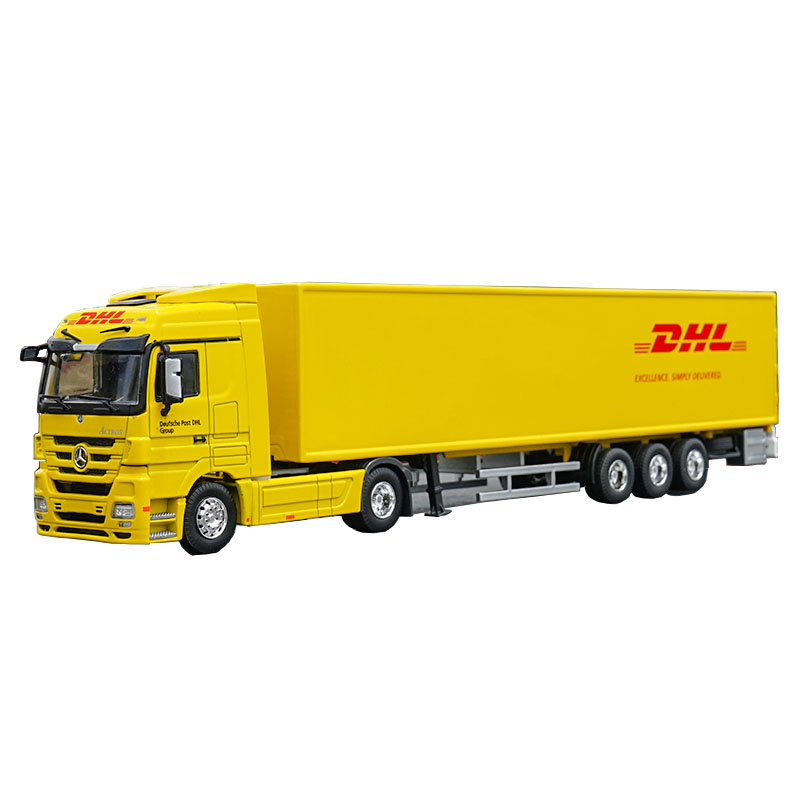1/50 Scale alloy Container truck DHL Sinotrans Dun Howe High Simulation diecast truck model child toy gift collection display