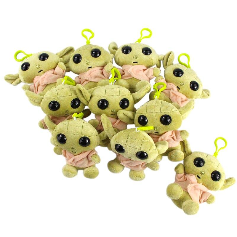 11cm 10pcs/set Master Yoda Plush Pendants Stuffed Dolls Baby Yoda Keychain Toys Gift