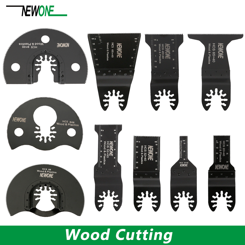 NEWONE Quick Release Wood Cutter Quick Change Oscillating Multi Tool Saw Blade For Renovator Power Tool Black Decker Dewalt