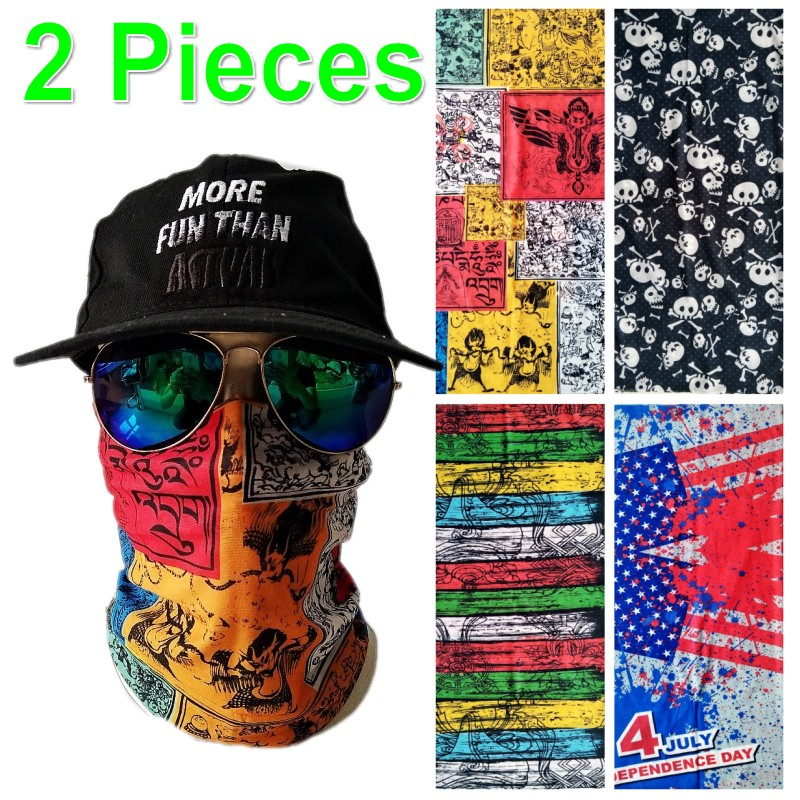 2 Pieces Outdoor Sports Face Mask Balaclava Warm Scarf Masks Caps Motor Bicyle Biker Ski Shield Windproof Men Women Balaclavas