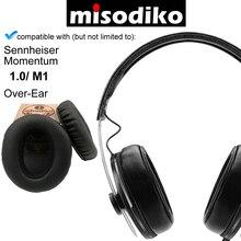 Almofadas de substituição misodiko almofadas de ouvido para sennheiser momentum 1.0 m1 over ear, fones de ouvido reparação earpads