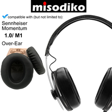 Misodiko yedek yastıkları kulak pedleri için Sennheiser Momentum 1.0 M1 aşırı kulak, kulaklık tamir yastıkları