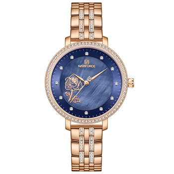 NAVIFORCE Luxury Ladies Watch Women Waterproof Rose Gold Steel Strap Women Watches Top Brand Bracelet Clocks Relogio Feminino 9