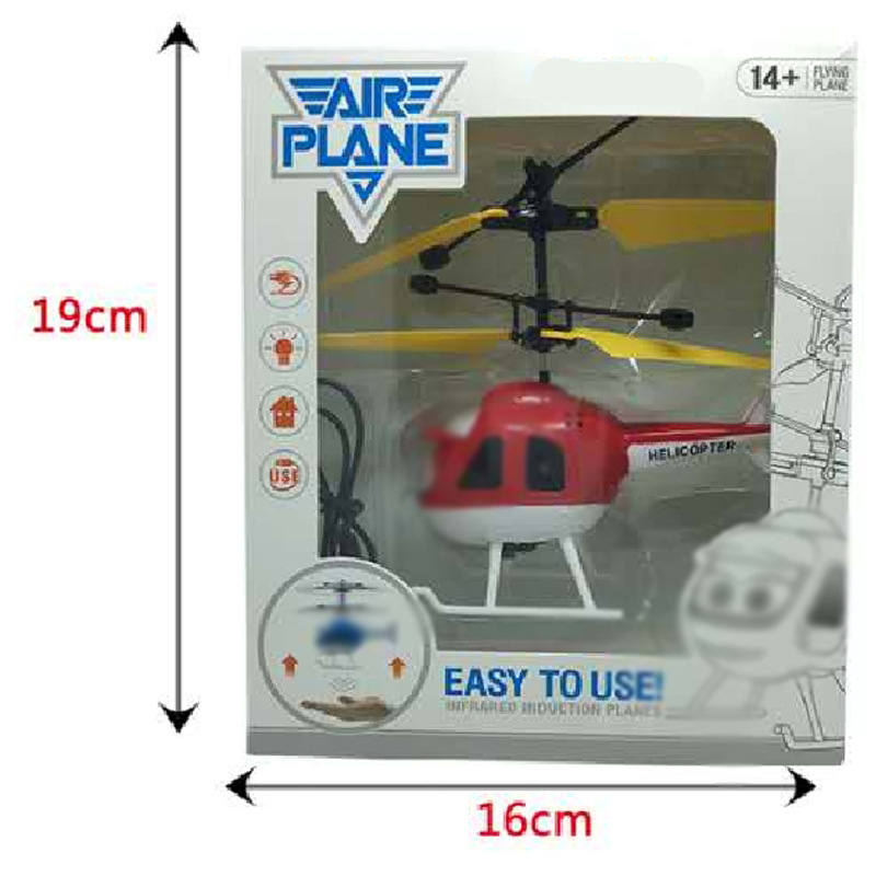 Cartoon Airplane Electric Suspension Sensing Crystal Ball Aircraft Sensing Remote Control Helicopter CHILDREN'S Toy