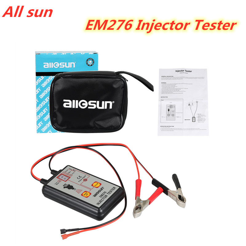 ALL SUN EM276 Professional Injector Tester Fuel Injector 4 Pluse Modes Tester Powerful Fuel