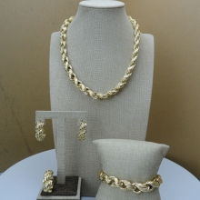 Yuminglai Classic Jewelry Dubai Gold Jewlery Exquisite Jewelry Sets  FHK6683