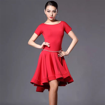 New Latin Dance Dress Women Tassel Salsa Samba Tango Competition Dresses Skirt Dancewear