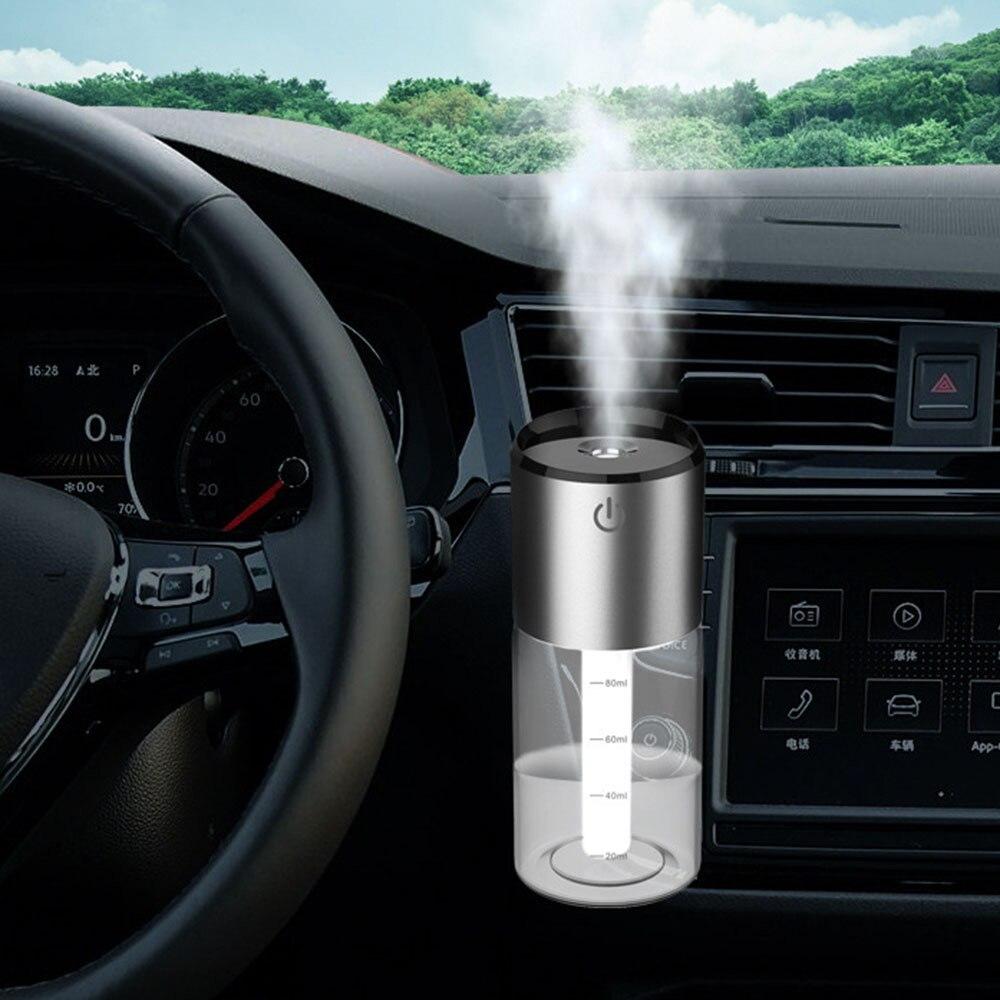 Clip de Perfume automático purificador Aroma difusor de aromaterapia humidificador de aire del coche ambientador 2USB encendedor de carga por encendedor rápido