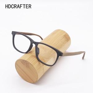 Image 1 - HDCRAFTER وصفة النظارات الإطار الرجال والنساء خشبية الموضة الرجعية النظارات البصرية النظارات إطار نظارات