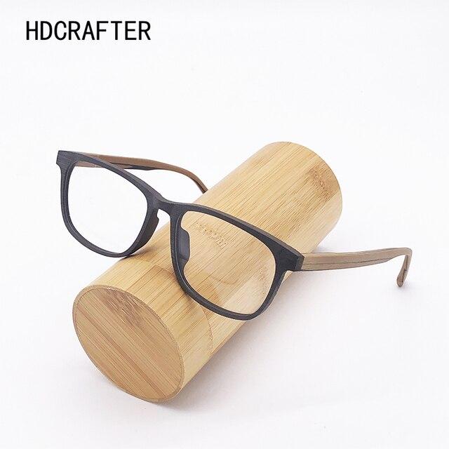 HDCRAFTER وصفة النظارات الإطار الرجال والنساء خشبية الموضة الرجعية النظارات البصرية النظارات إطار نظارات