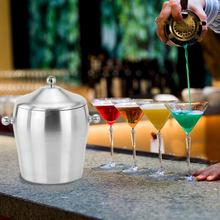 Stainless Steel Ice Bucket Portable Double Layer Thickened for Party Camping Picnic