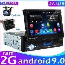 Android 9.0 Auto Radio Intrekbare Gps Wifi Autoradio 1 Din 7 Touch Screen Auto Multimedia MP5 Speler Ondersteuning Camera geen Dvd