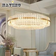 Постмодерн светодиодный круглая люстра K9 хрустальное освещение приспособление для украшения столовой AC 110-240V
