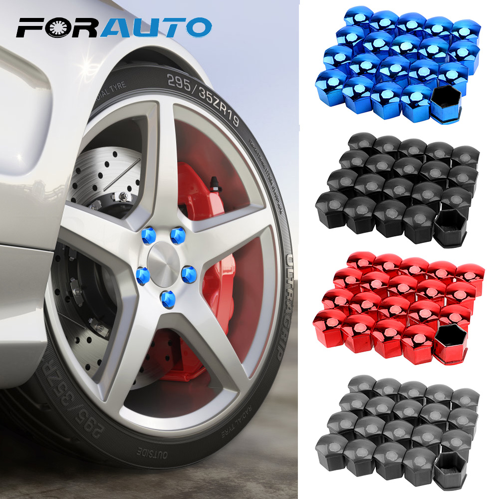 17mm 20 Pieces Car Wheel Nut Caps Protection Covers Caps Anti-Rust Auto Hub Screw Cover Car Tyre Nut Bolt Exterior Decoration