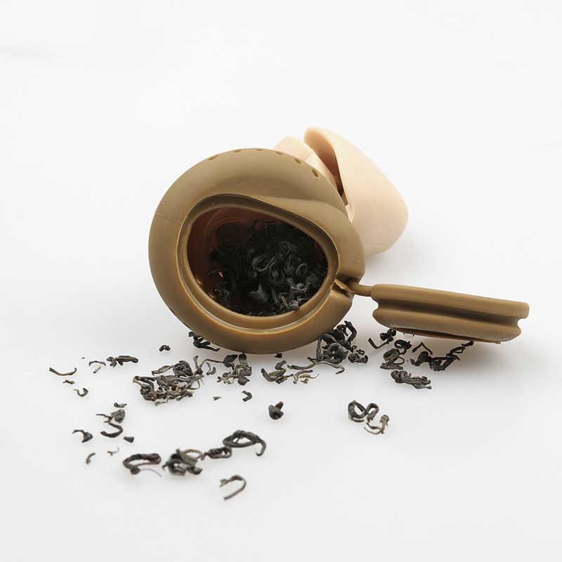 Diffuseur de thé en Silicone, feuilles lâches, passoire pour infusion, outil de filtration à base de plantes
