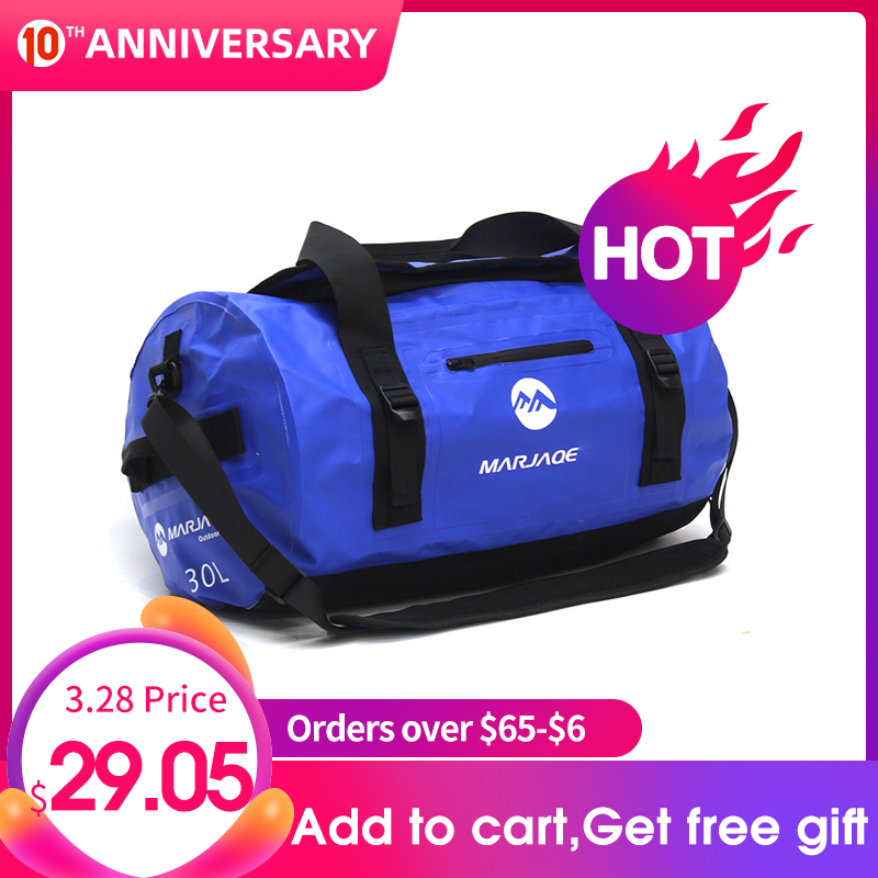 30/60/90L Outdoor PVC Waterproof Bag Dry Sack Storage Bag For Rafting Canoe Boating Kayaking River Trekking Swimming Travel Bag