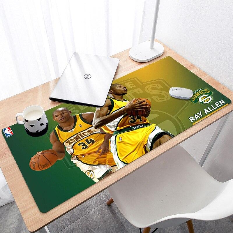 Большой игровой коврик для мыши Коврик для мыши с блокирующим краем, коврик для мыши, расширенный для ноутбука, баскетбольная звезда-1