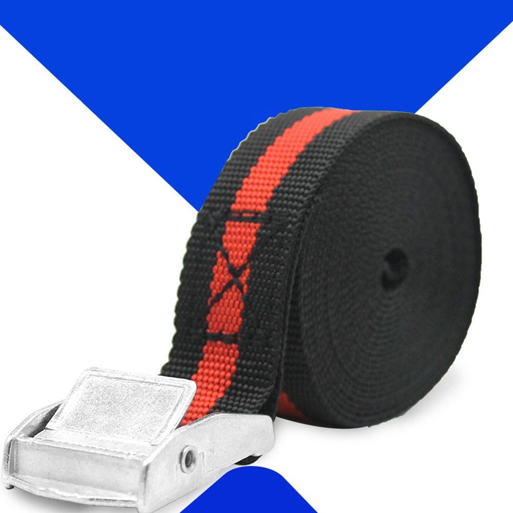 2.5M Unverisal Tie Down Belt Luggage Bag Cargo Lashing Strap Cargo Metal