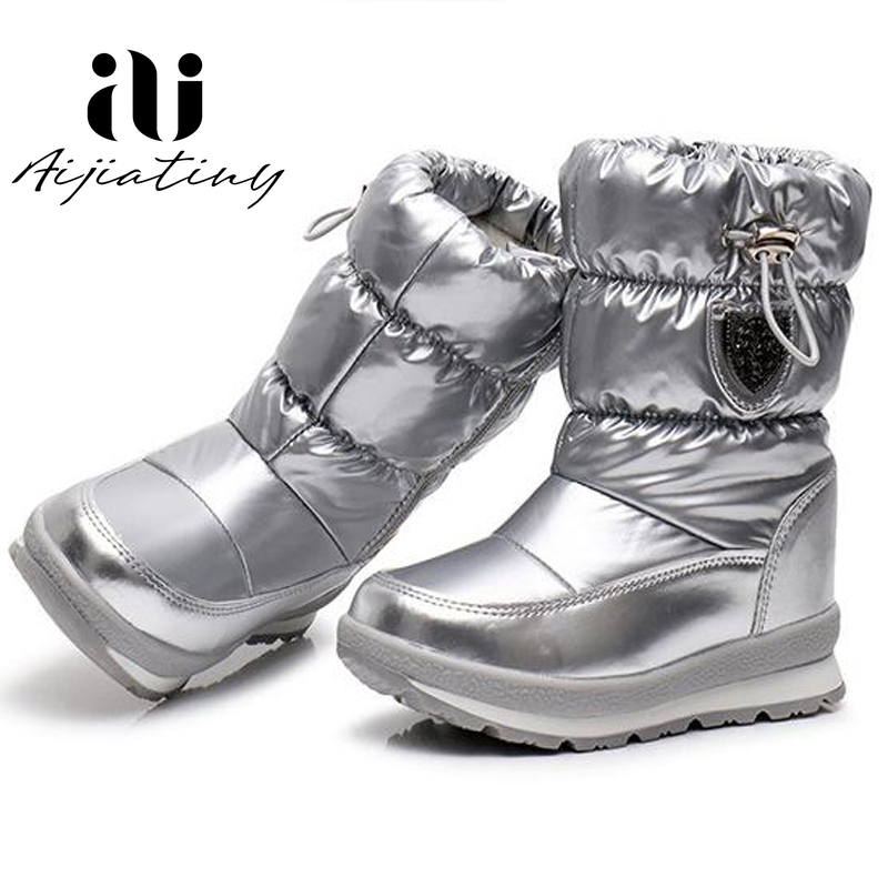 Russia Children Snow Boots Girls Shoes Winter Ankle Boots Fashion Wool Kids Shoes Water-Proof Students Sneakers Children Boots
