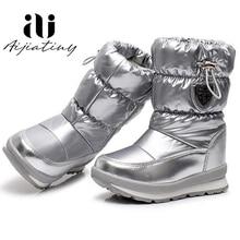 Russie enfants bottes dhiver cheville enfants bottes de neige filles chaussures dhiver mode laine garçons bottes imperméables