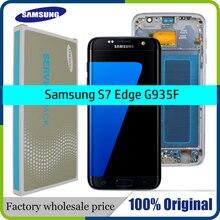 100% Original 5.5 écran pour SAMSUNG Galaxy S7 bord LCD affichage G935F SM G935FD tactile numériseur assemblée pièces de rechange