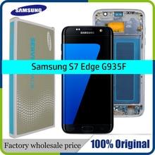 삼성 갤럭시 S7 가장자리 LCD 디스플레이 G935F SM G935FD 터치 디지타이저 어셈블리 교체 부품에 대 한 100% 원래 5.5 화면