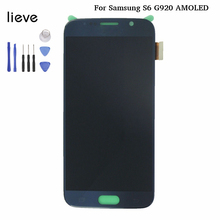For Samsung Galaxy S6 LCD G920 G920A G920F Display OEM AMOLED LCD Screen Display Touch Digitizer Assembly  Replacement 5pcs free dhl original replacement for samsung s6 g9200 sm g920 g920f g920i g920x lcd display with touch screen digitizer