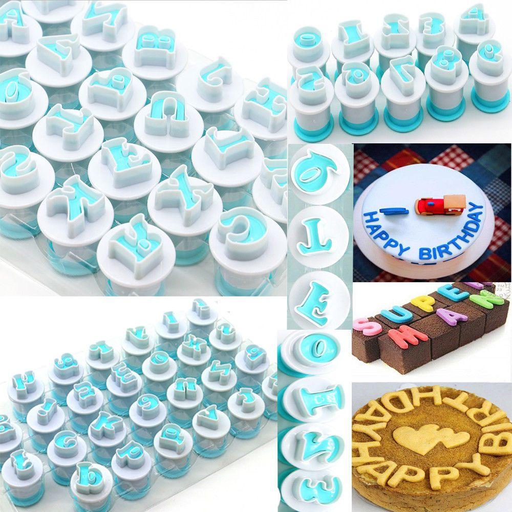 10/26pcs Upper & Lowercase Alphabet Cookie Cutter Plastic Capital Letters Fondant Cutter Baking Cupcake Mold Cake Decorating 1
