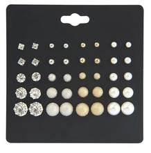 20 пар/уп Женский комплект сережек для женщин с квадратным кристаллом