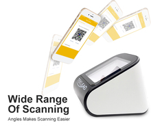 2D barcode scanner for mobile payment QR code reader Wired USB Free Drive Compatible all system cheap TEKLEAD 640*480 CMOS 300scans T-D2 32 Bit Bar Code Scanner USB COM(RS232) 1 2m 12 5*10*8cm 17*11*10cm 1D 2D QR Screen 3-15cm