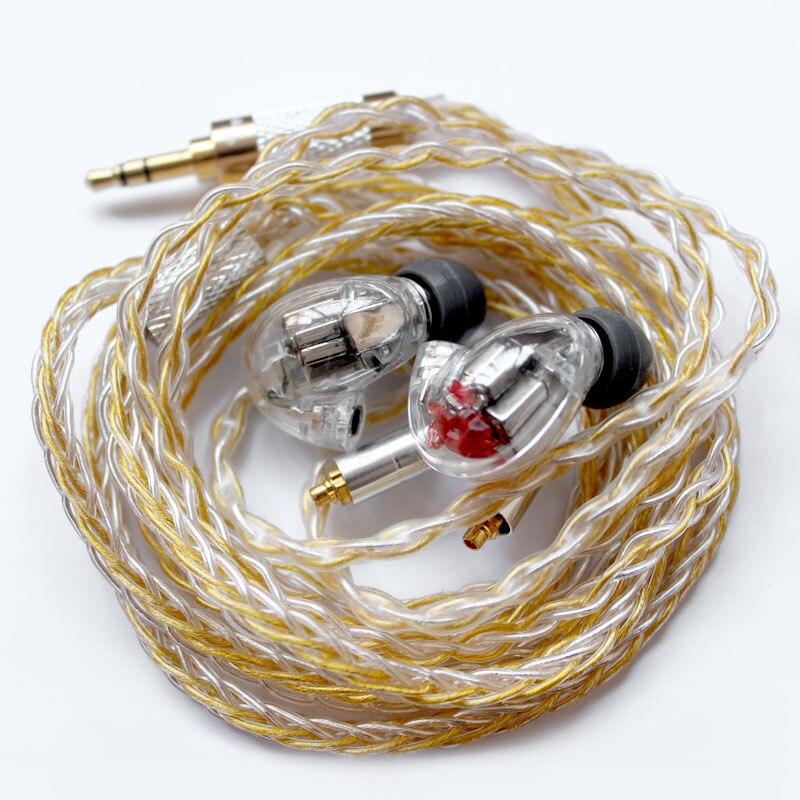 Bricolage SE846 dans l'oreille écouteurs 5BA Armature équilibrée 10 unités de pilote HIFI stéréo Sport suppression du bruit écouteurs casque avec câble-in Écouteurs et casques from Electronique    2