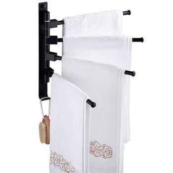 1 Pc wieszak na ręczniki Hole Free Prime trwały obrotowy uchwyt na ręczniki uchwyt na ręcznik kąpielowy uchwyt na ręczniki do łazienki tanie i dobre opinie CN (pochodzenie)
