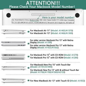 Image 2 - קריסטל קשיח מקרה עבור ה macbook Air 13 רשתית Pro 13 15 16 2020 A2289 A2159 קשה כיסוי עם משלוח מקלדת כיסוי A1466 A2338 A1932