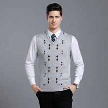 MACROSEA бизнес повседневный мужской шерстяной свитер Argyle шерстяной жилет Ретро стиль пуловер без рукавов Осень и зима Мужская одежда 1803