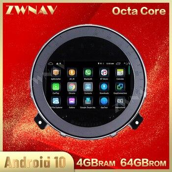 Reproductor de dvd para coche 4G + 64GB Android 10,0 para Mini R56 R60 Cooper 2007-2014 GPS Navi Auto Radio estéreo reproductor multimedia Unidad Principal