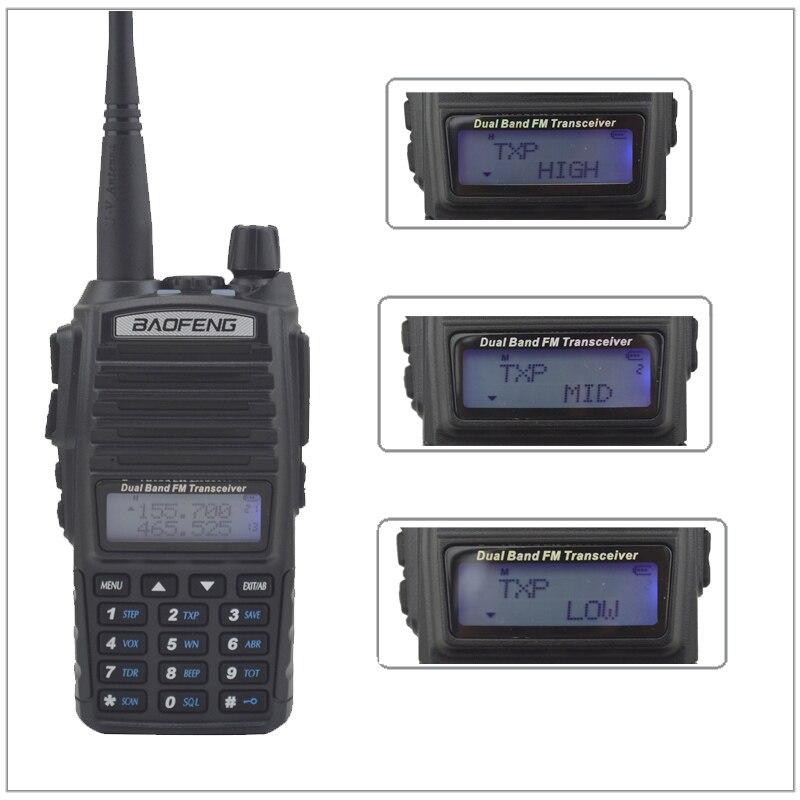 UV 82 Walkie Takie Baofeng 8W UV82 DUAL BAND VHF/UHF Radio Double PTT Switch Radio Baofeng Radio UV-82 8W With Handsfree Headset