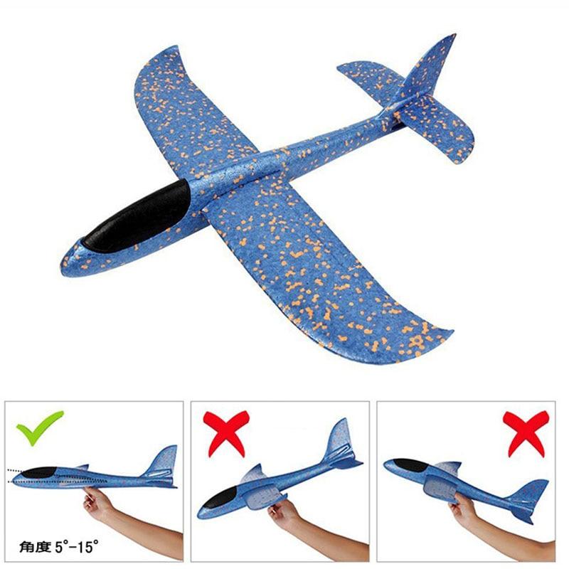 48cmChildren Jouet Avion Jet Main Enfant Sport En Plein Air Avion Planeur Modèle Télécommande Grand Avion EPP Volant Breakout