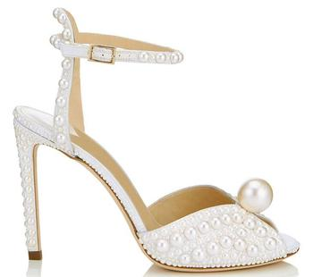 woman high heel prom evening pumps teal navy blue ankle strap ribbon tie satin bride bridesmaids wedding bridal shoes hc1610 White Satin Sandals With All Over Pearls Sacora 100mm Pearl Embellished Pumps Ankle Strap Peep-toe Sandal Wedding Shoes