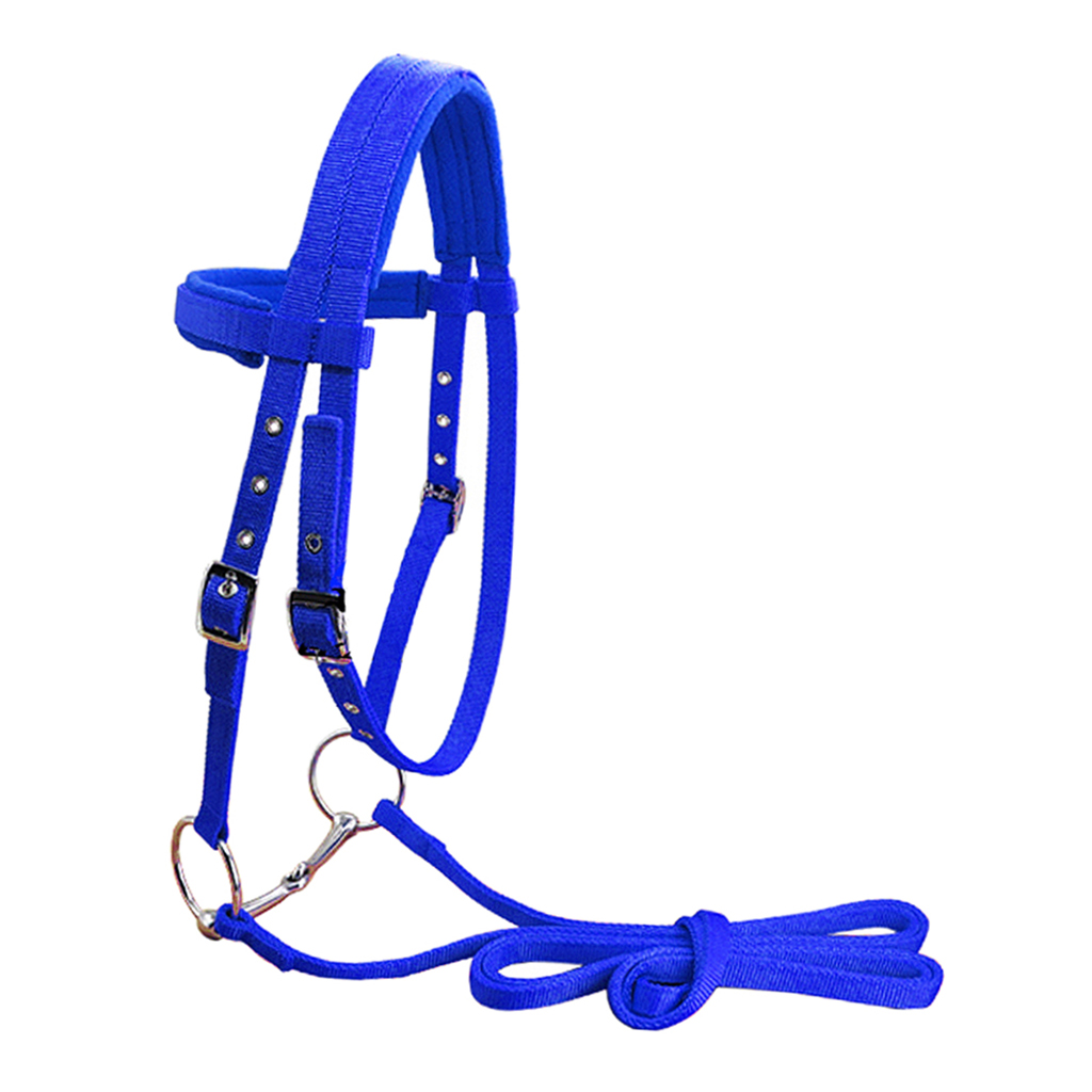 Horse Bridle Harness Headstall with Removable Snaffle High Density Halter