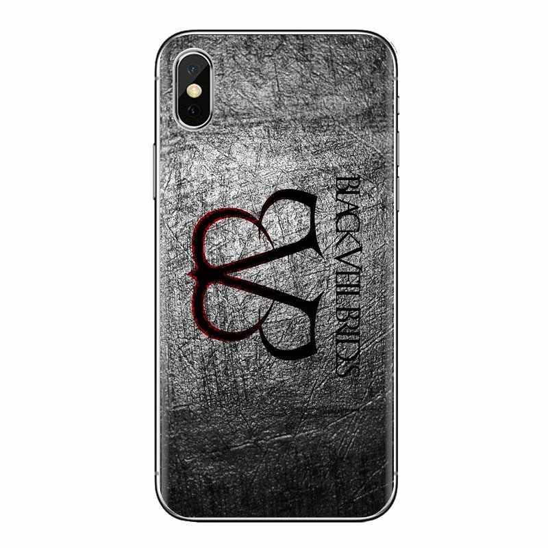 BVB שחור צעיף כלות רך שקוף פגז מכסה עבור iPod מגע Apple iPhone 4 4S 5 5S SE 5C 6 6S 7 8 X XR XS בתוספת מקסימום