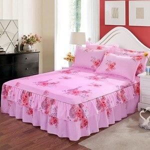 3 шт., кровать, юбка, нескользящая, простыня, полиэстер, Королевский размер, Декор для дома, покрывало с эластичной лентой, cobertores de cama