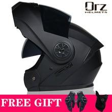 Casco de seguridad Modular con tapa para motocicleta, Visor Interior de doble lente de carreras, aprobado por DOT, VIRTUE-903