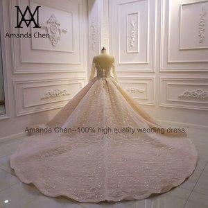 Image 2 - Vestito da sposa robe de mariée luxueuse à manches longues, sur mesure