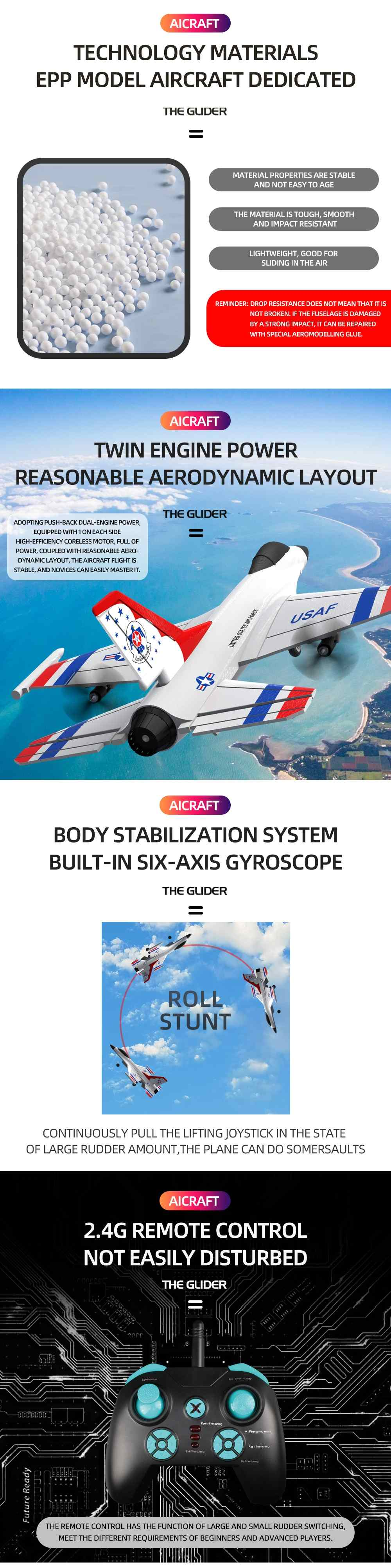 Hd15bb99285a74cedb6169b117e91b64bI - SUKHOI F16 314mm Wingspan 2.4Ghz 3CH Six-axis Gyroscope RTF RC Airplane Glider EPP RC Aircraft Remote control Outdoor Toys
