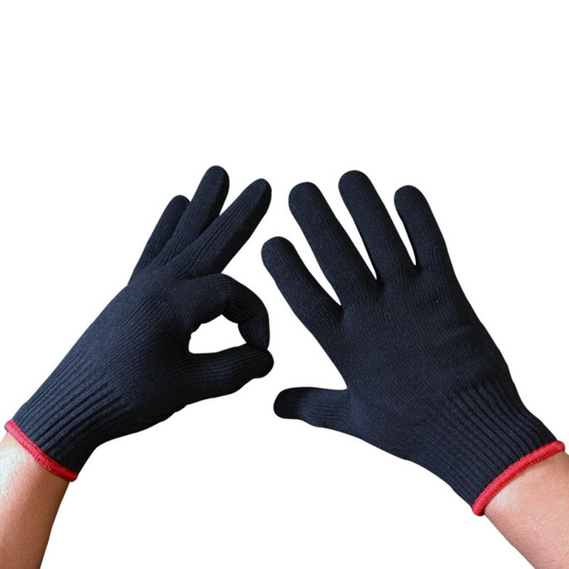 1 Pair Heat Resistant Protective Glove Hair Styling For Curling Straight Flat Iron Work Gloves Safety Gloves