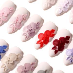 Image 4 - 新生児かわいい3で1アクリル浸漬ネイル粉末ピンク彫刻延長ポリマー勾配フレンチネイル装飾なしランプ硬化