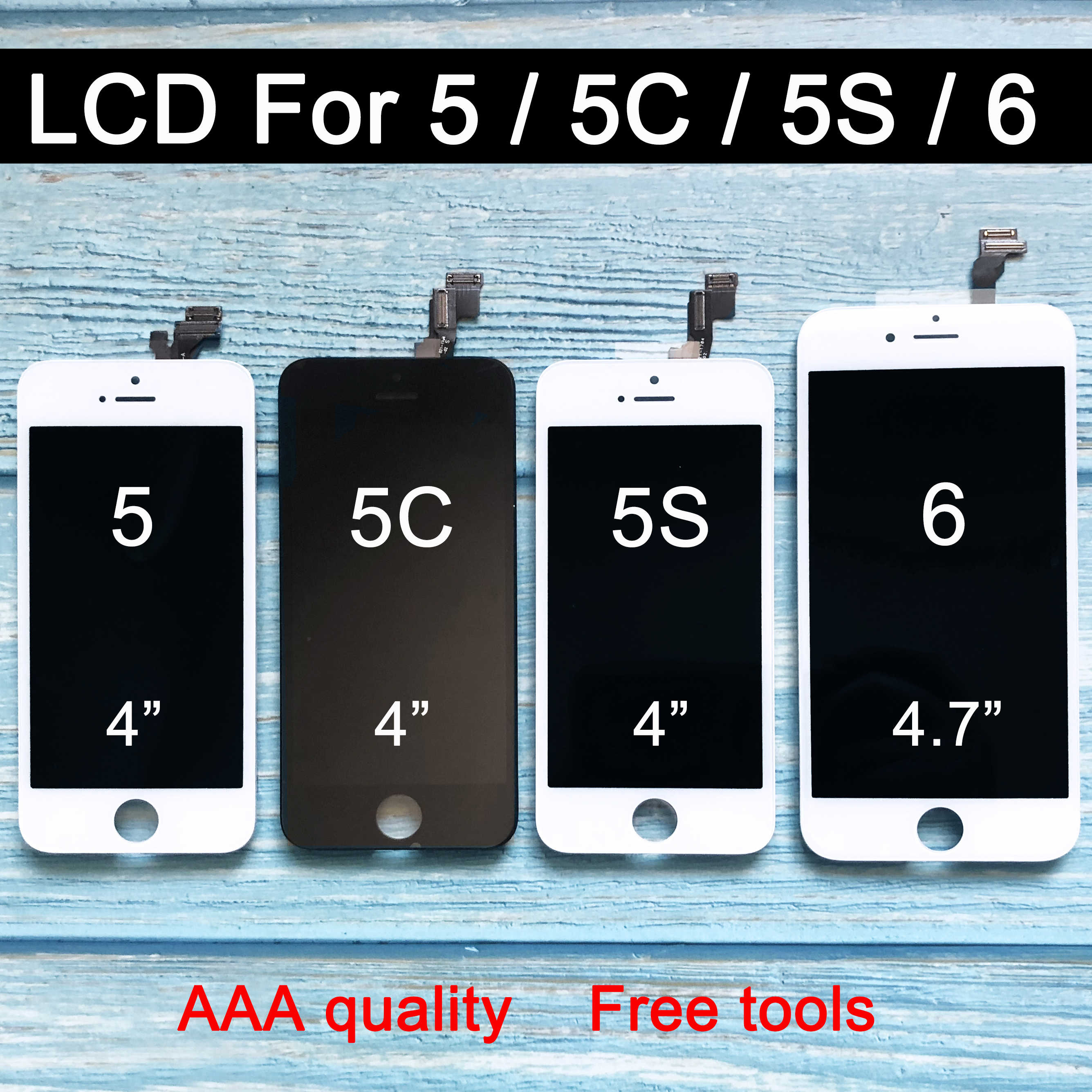 REPUESTO nuevo para iphone 6 lcd Display para iphone 6s LCD Display Touch digitalizador montaje para iphone 5s lcd