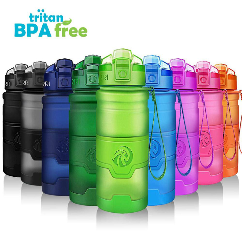 ZORRI Bottle For Water Protein Shaker Portable Motion Sports Water Bottle Bpa Free Eco-Friendly  Sports Camping Hiking Gourde