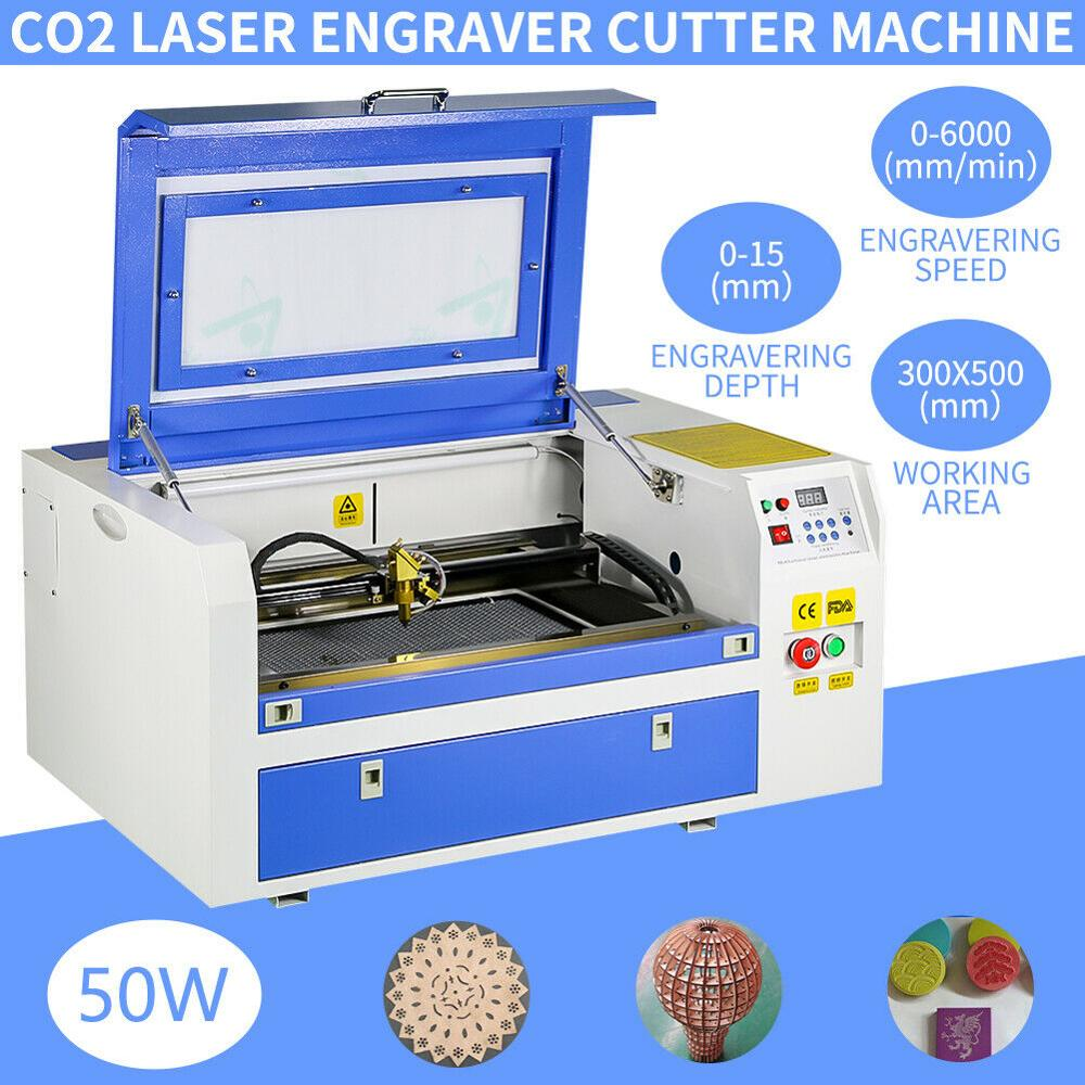 300*500mm 50W CO2 Laser Engraving ...