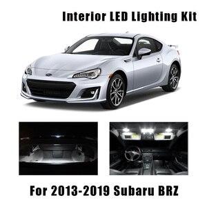 9pcs White Car LED Bulbs Interior Dome Trunk Light Kit Fit For 2013-2017 2018 2019 Subaru BRZ Step Courtesy License Plate Lamp